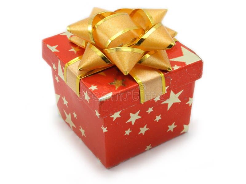 prezent pudełkowata czerwony mała zdjęcia stock