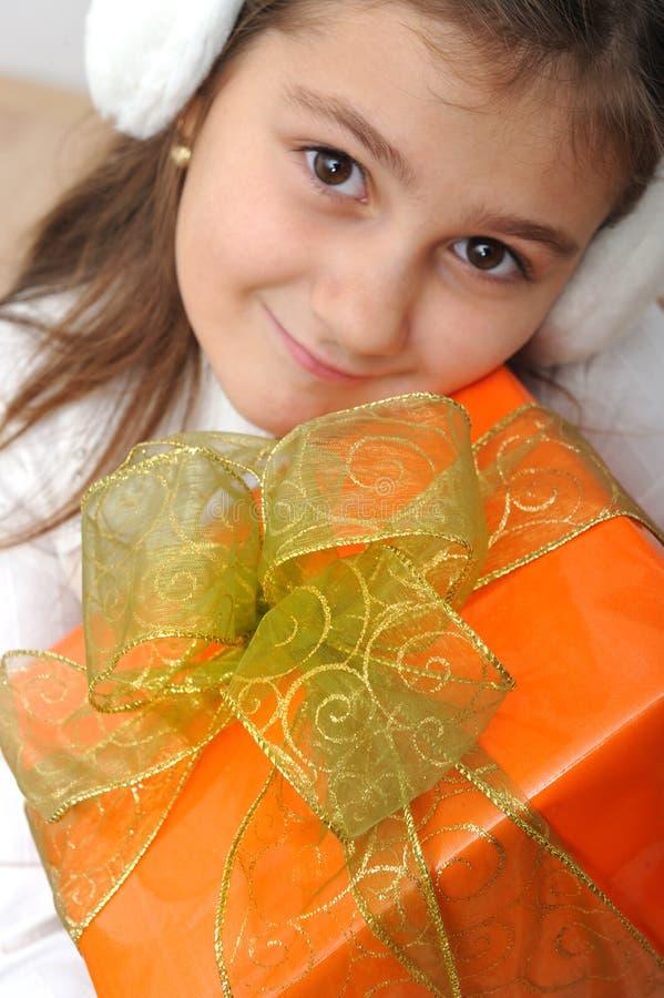 prezent pudełkowata dziewczyna obrazy royalty free