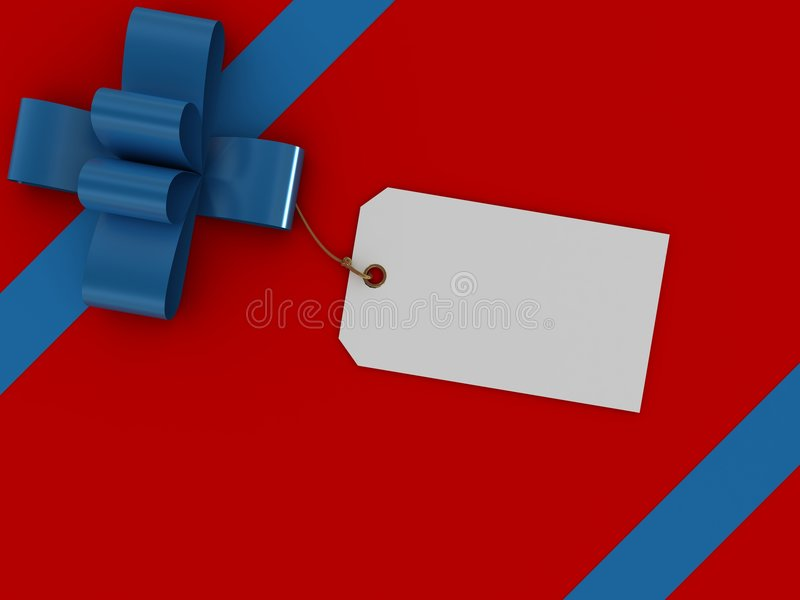 prezent pudełkowata etykietka ilustracja wektor