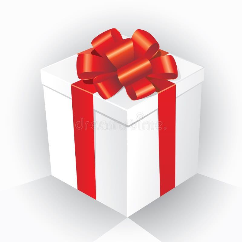 prezent pudełkowata ilustracja ilustracja wektor