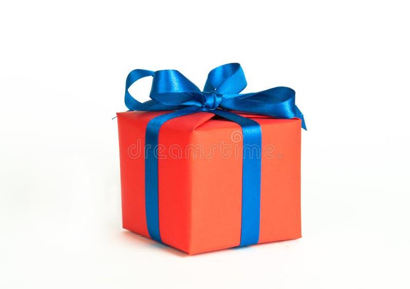 prezent pudełkowata pomarańcze obrazy stock