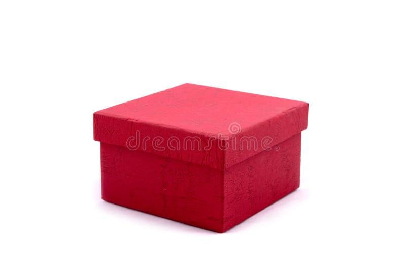 prezent pudełkowata równiny czerwony obraz stock