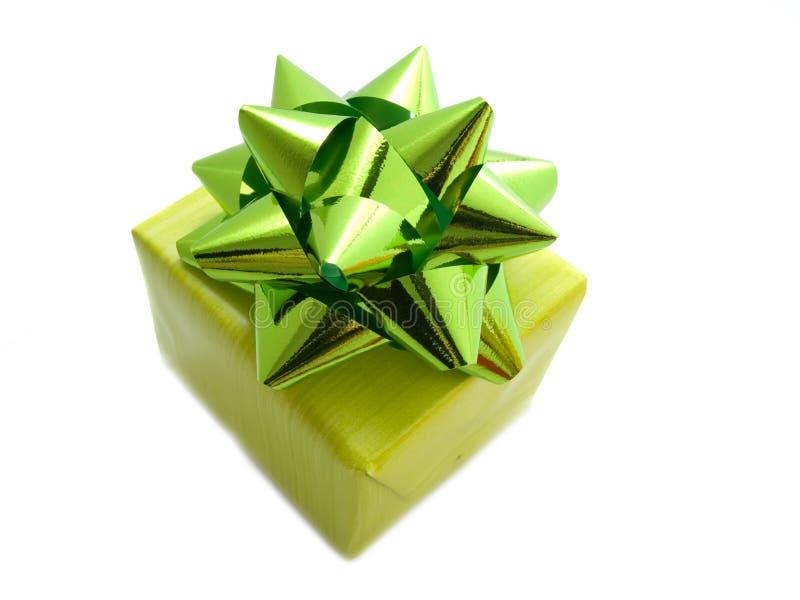 prezent pudełkowata zieleń obrazy royalty free