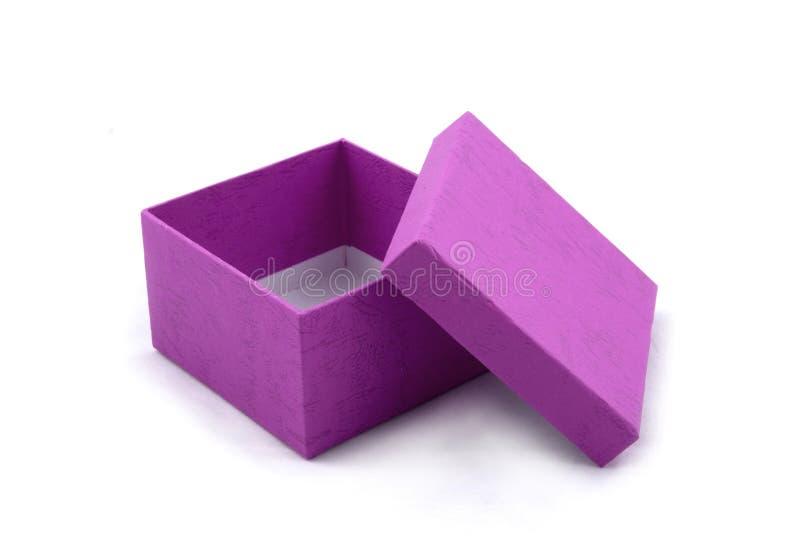 prezent pudełkowate purpurowy zdjęcie royalty free