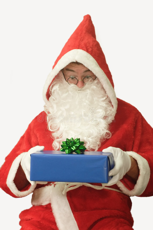 prezent Santa zdjęcia stock