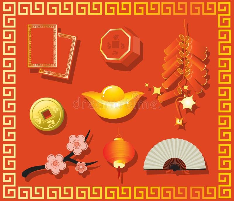 prezenta chiński nowy rok ilustracji