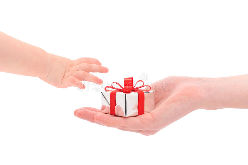 prezenta dawać obraz stock