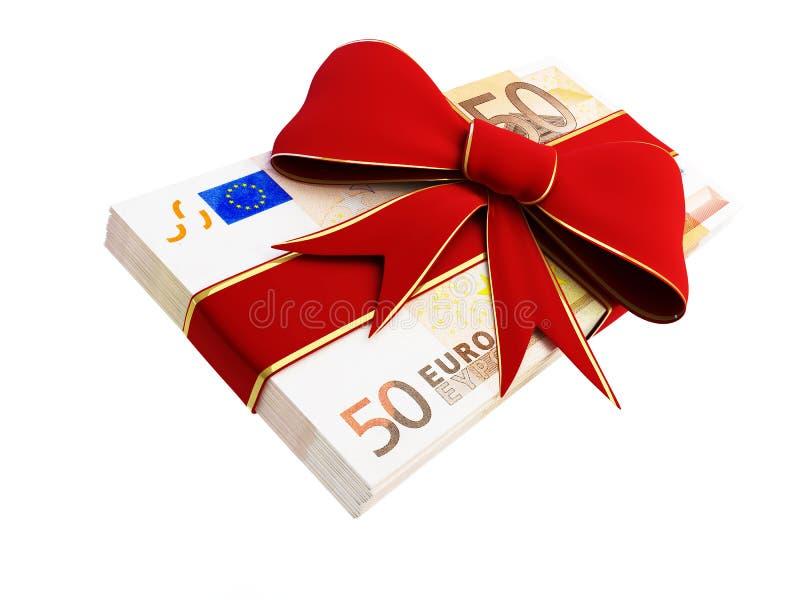 prezenta euro pieniądze royalty ilustracja