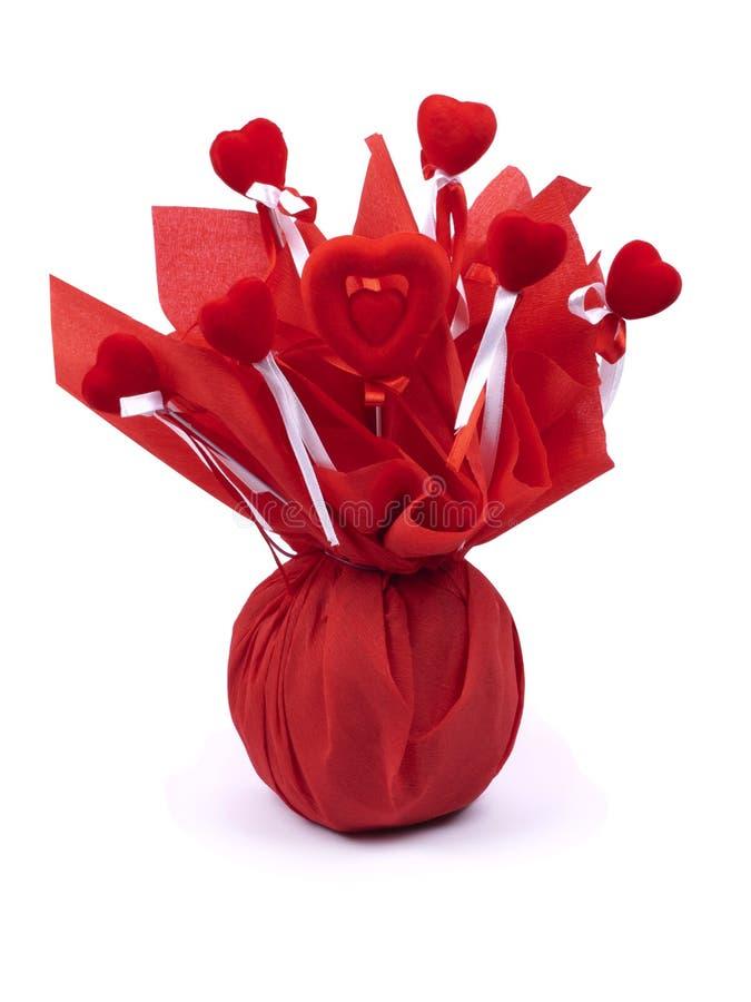 prezenta kocowania czerwień zdjęcia royalty free