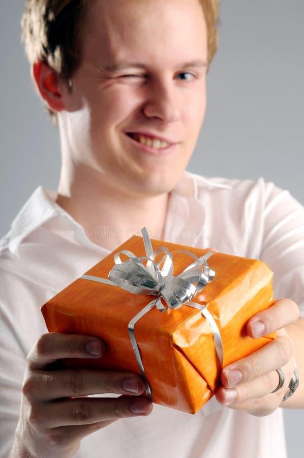 prezenta mężczyzna zdjęcie stock