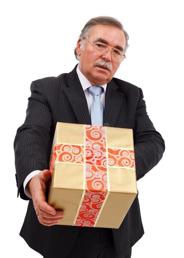 prezenta mężczyzna ofiary senior zdjęcia royalty free