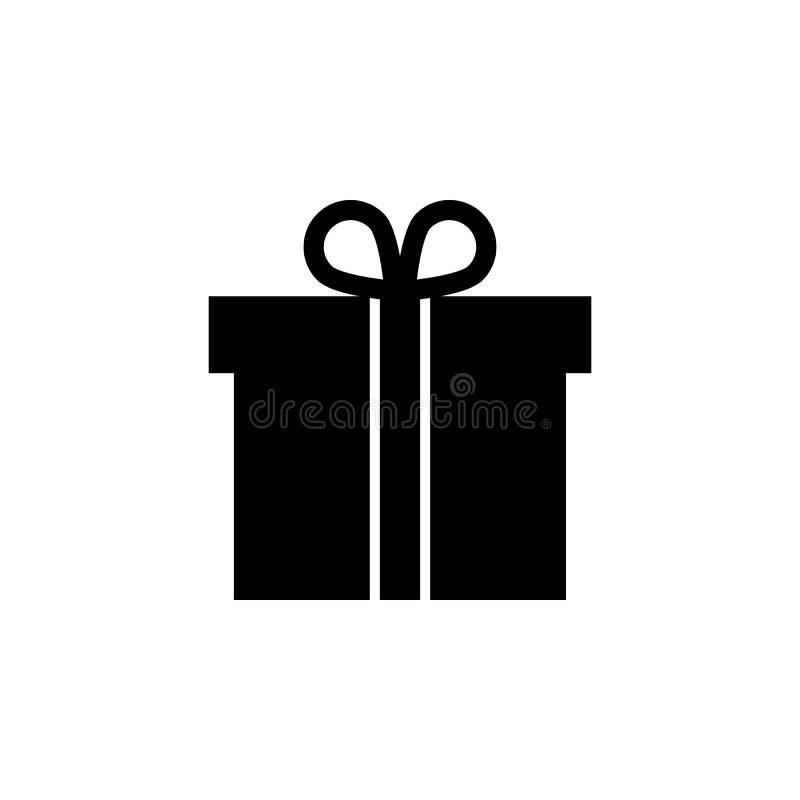 Prezenta pudełko, teraźniejsza pakunek ikona Znaki i symbole mogą używać dla sieci, logo, mobilny app, UI, UX ilustracji