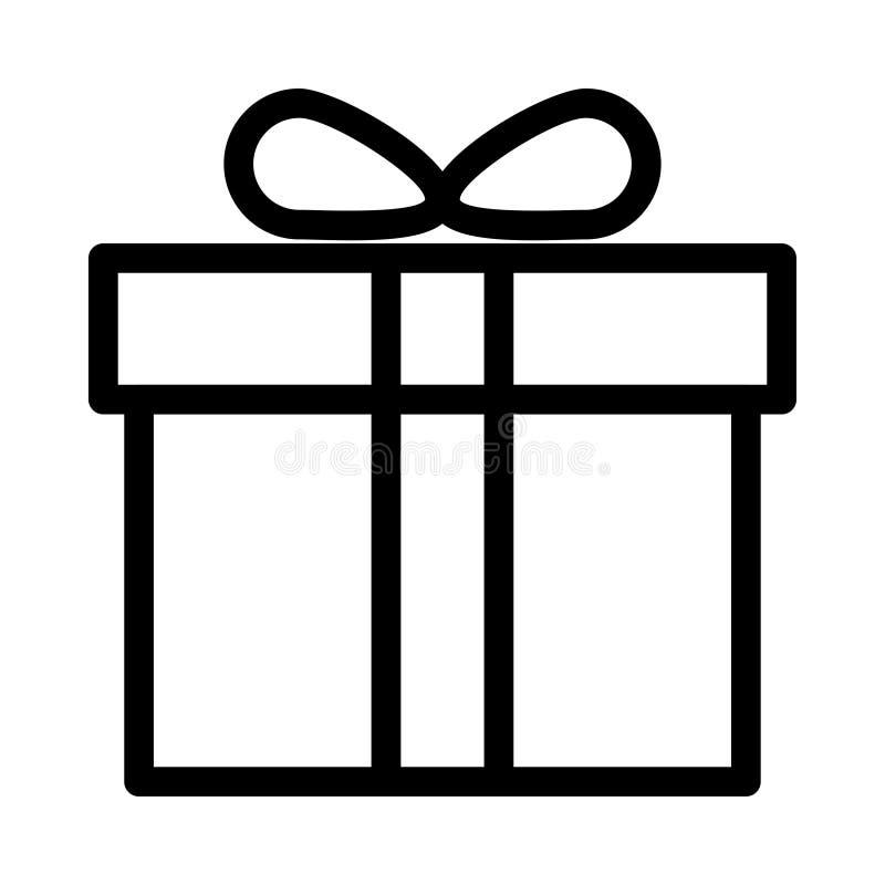 Prezenta pudełka ikona ilustracji