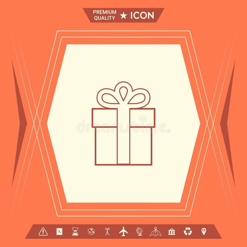 Prezenta pudełka ikona royalty ilustracja