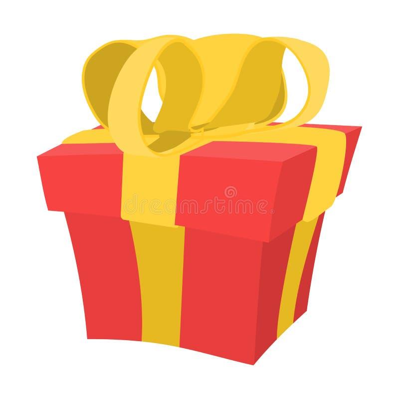 Prezenta pudełka kreskówki ikona ilustracji
