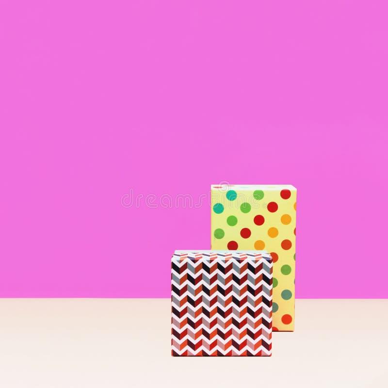 Prezenta pudełka Modna projektująca fotografia obraz stock