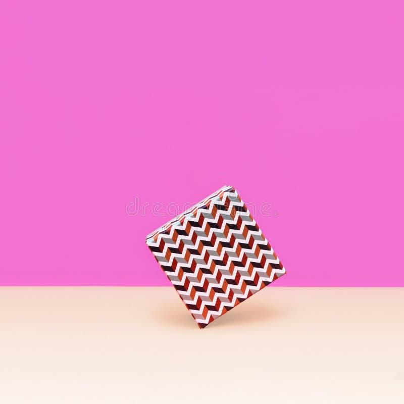 Prezenta pudełka Modna projektująca fotografia zdjęcia stock
