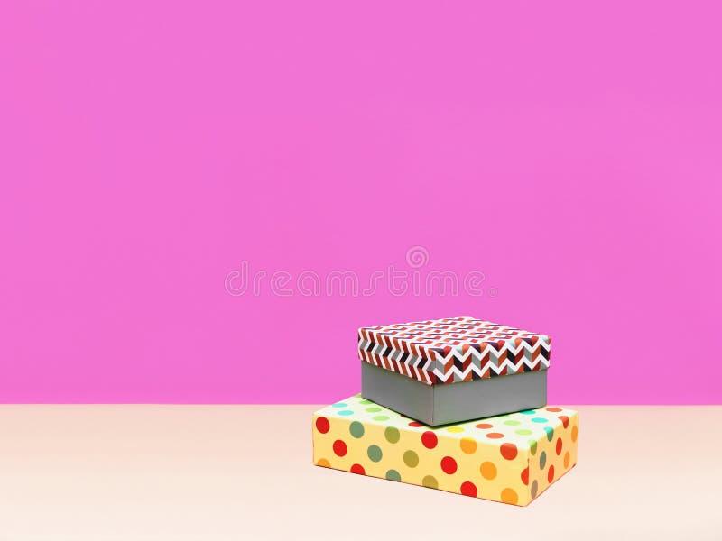 Prezenta pudełka Modna projektująca fotografia zdjęcie stock