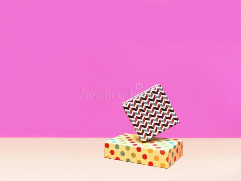 Prezenta pudełka Modna projektująca fotografia obrazy stock