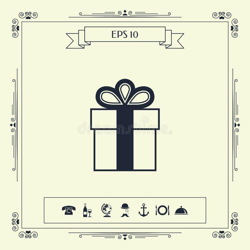 Prezenta pudełka symbolu ikona ilustracja wektor