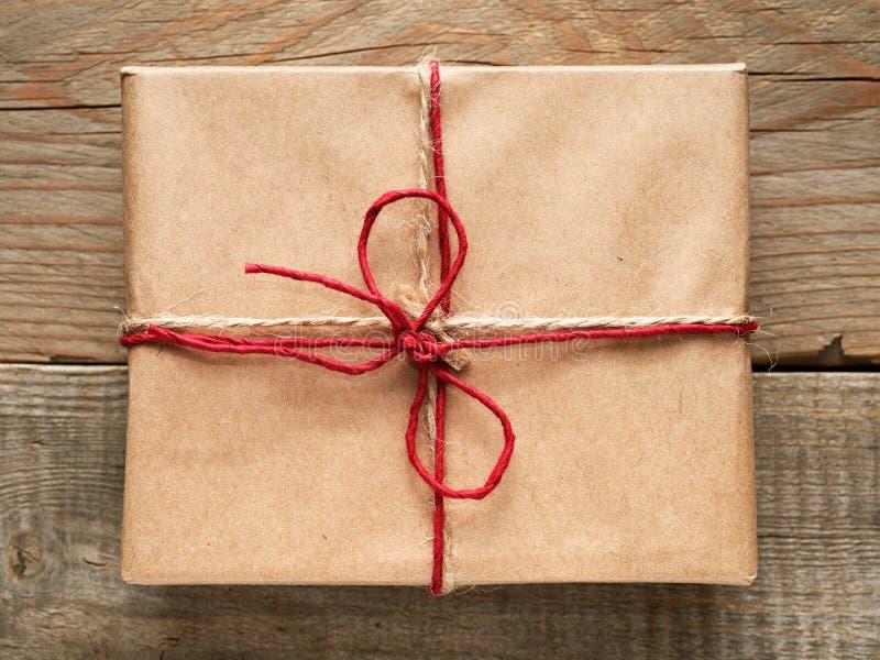 Prezenta pudełka zakończenia odgórny widok zdjęcia royalty free