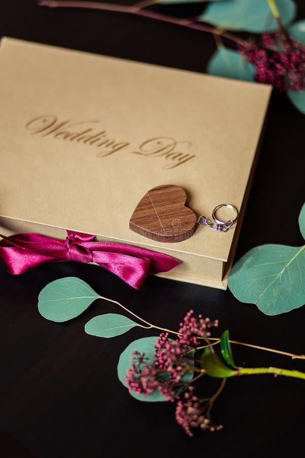 Prezenta pudełko dla photoes zdjęcie royalty free