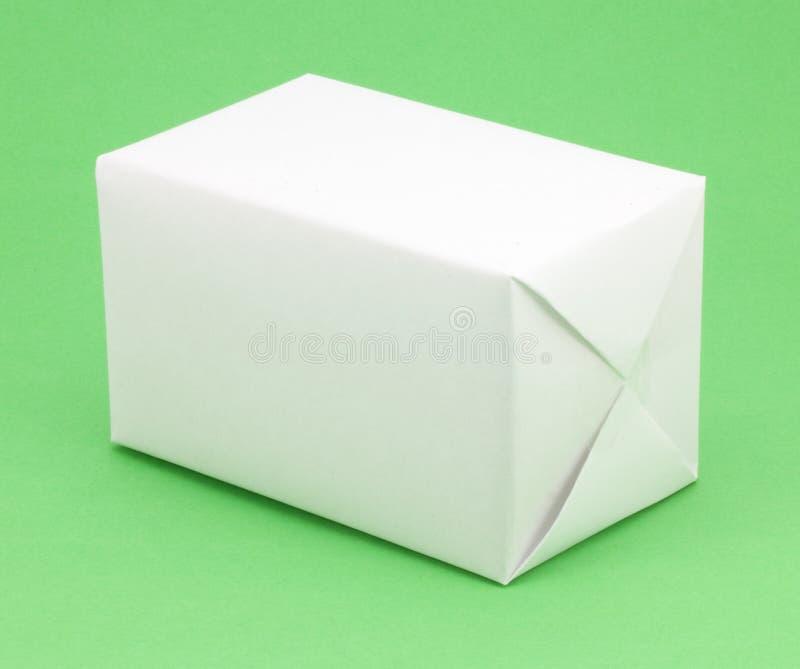 prezenta pudełkowaty biel obraz stock