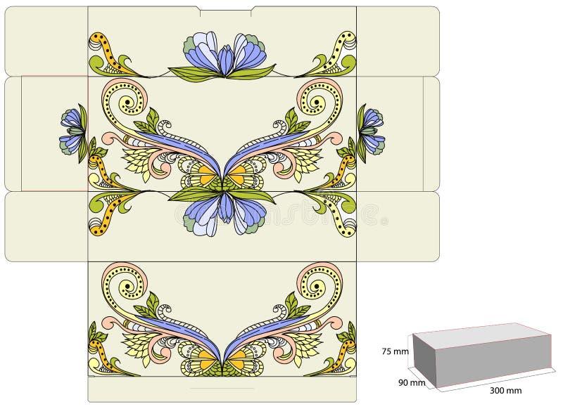 prezenta pudełkowaty szablon ilustracja wektor