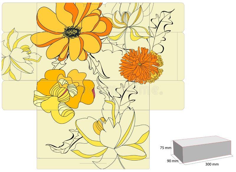 prezenta pudełkowaty szablon royalty ilustracja