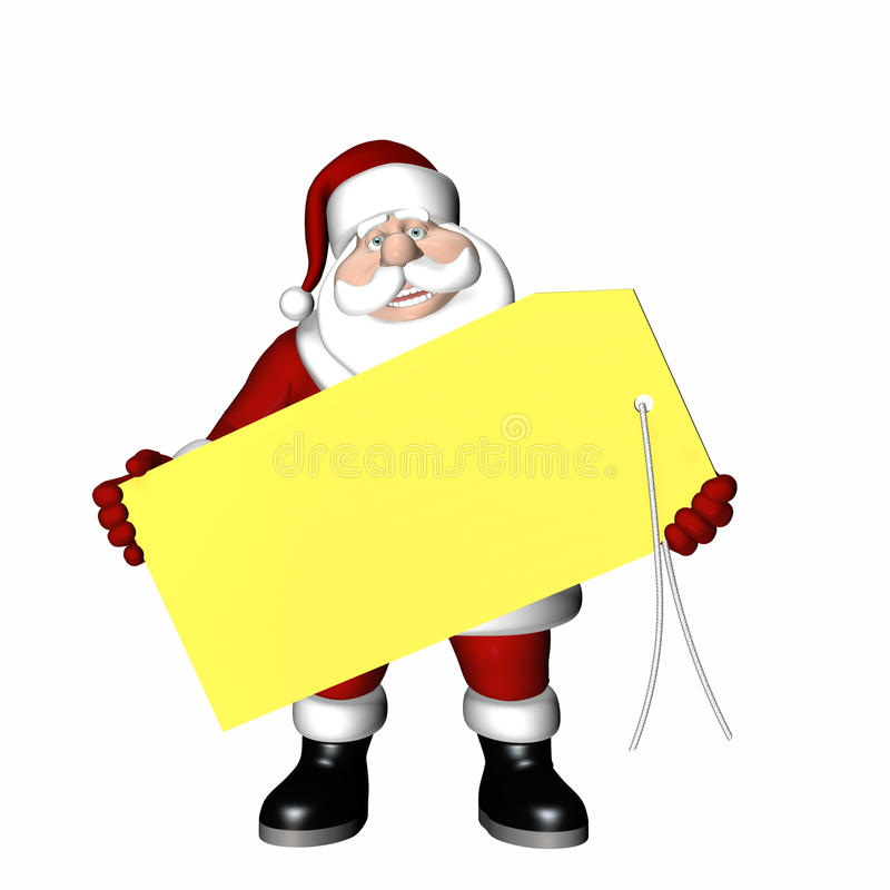 prezenta Santa etykietka ilustracji