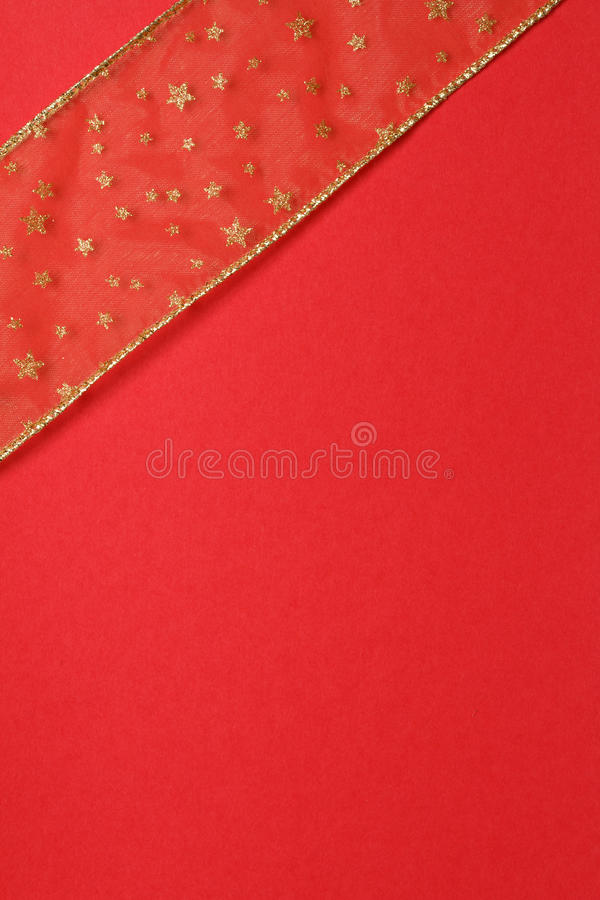 Prezenta Złota Czerwień Obrazy Royalty Free