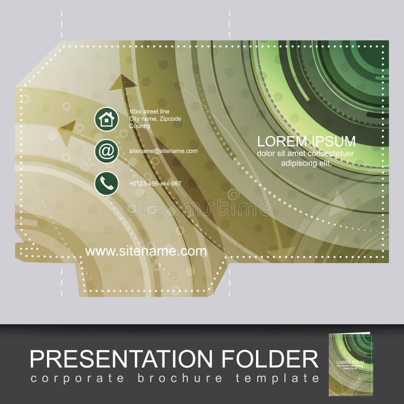 Prezentaci biznesowa falcówka, korporacyjny broszurka szablon ilustracji