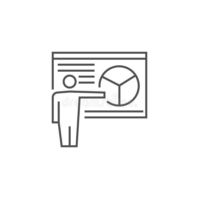 Prezentaci kreskowa ikona ilustracji
