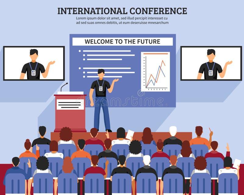 Prezentaci sala konferencyjnej skład ilustracji