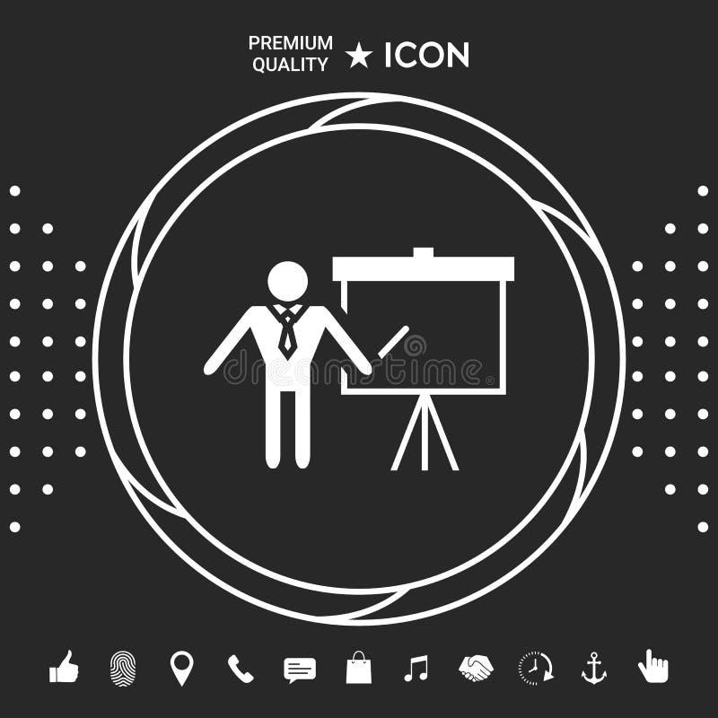 Prezentaci szyldowa ikona Obsługuje pozycję z pointerem blisko trzepnięcie mapy Puste miejsce billboardu pusty symbol Graficzni e ilustracja wektor