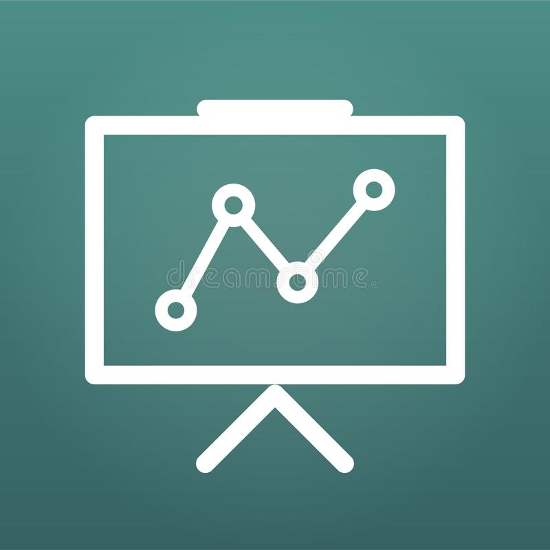 Prezentaci wektorowa ikona, infographic mapa symbol Nowożytna, prosta płaska wektorowa ilustracja dla strony internetowej, lub wi ilustracji