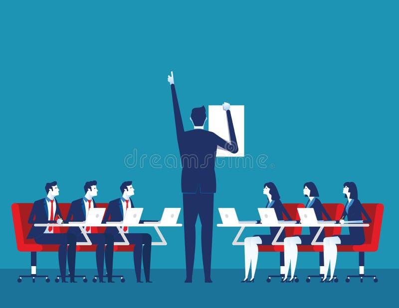 prezentacja Biznesowy korporacyjny spotkanie Poj?cie biznesowa wektorowa ilustracja ilustracji
