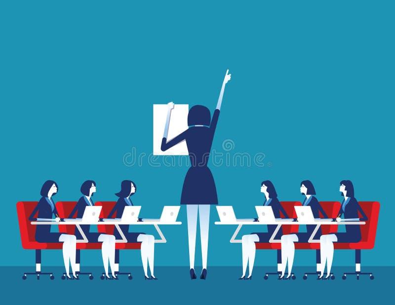 prezentacja Biznesowy korporacyjny spotkanie Poj?cie biznesowa wektorowa ilustracja ilustracja wektor