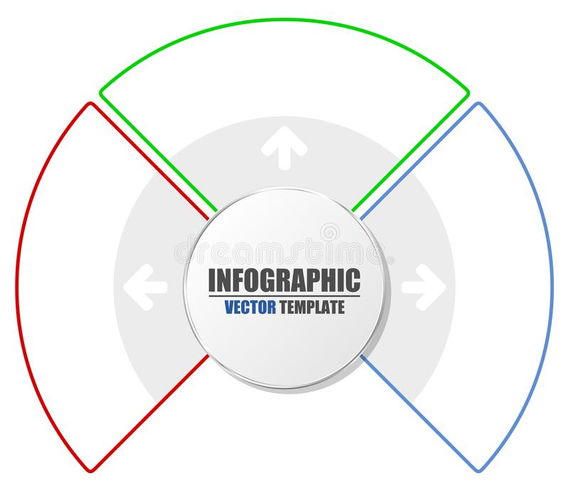 Prezentacja biznesowy szablon z 3 opcjami Proces mapa Kreatywnie pojęcie dla infographic ilustracja wektor