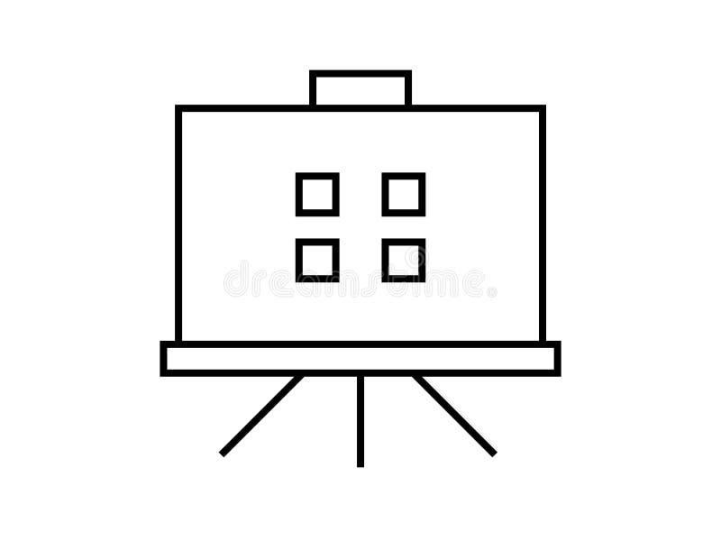 Prezentacja deskowy symbol royalty ilustracja