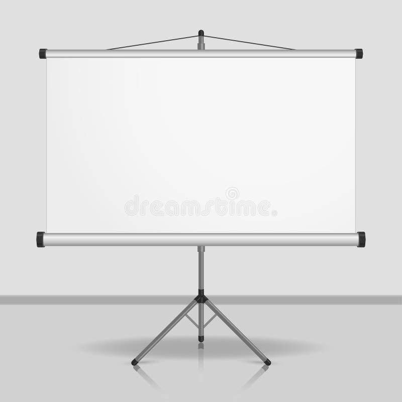 Prezentacja ekran, pusty whiteboard royalty ilustracja