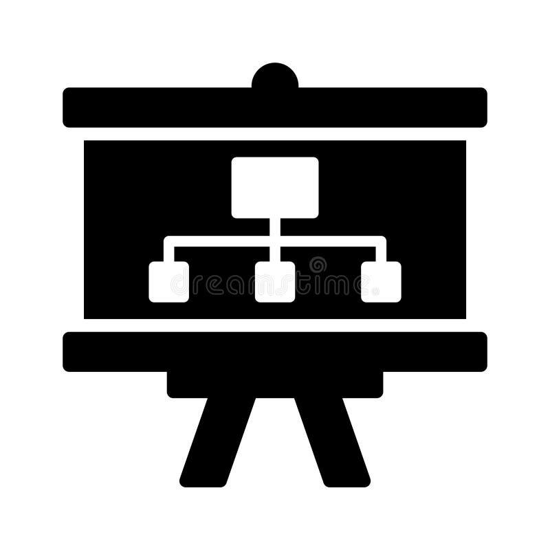 Prezentacja glifu mieszkania linii wektoru ikona royalty ilustracja