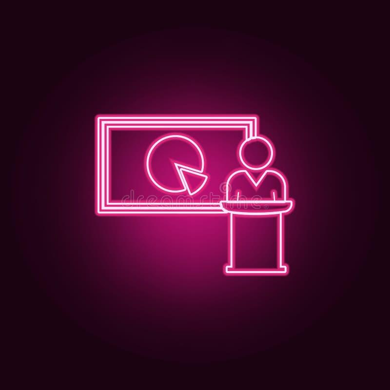 prezentacja pasztetowej mapy ikona Elementy rozmowa i przyja?? w neonowych stylowych ikonach Prosta ikona dla stron internetowych ilustracja wektor