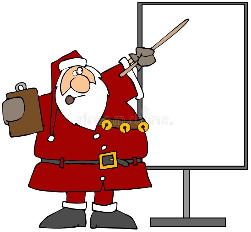 prezentacja Santa ilustracja wektor