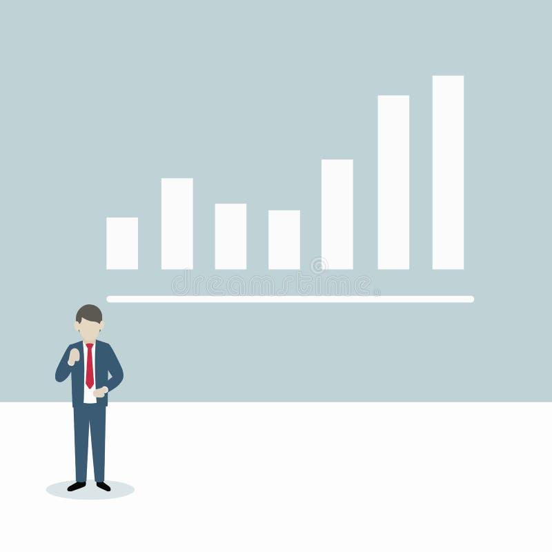 Prezentacja wykresu biznesmen obraz stock