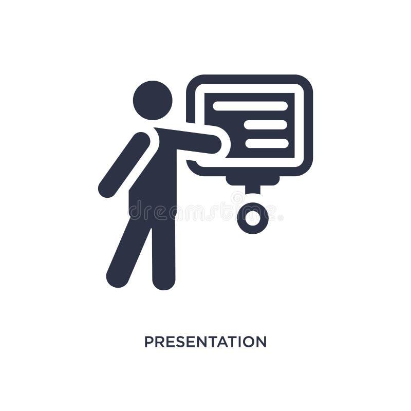 prezentacji whiteboard ikona na białym tle Prosta element ilustracja od zachowania pojęcia ilustracja wektor