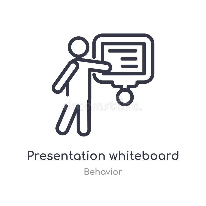 prezentacji whiteboard konturu ikona odosobniona kreskowa wektorowa ilustracja od zachowanie kolekcji editable cienieje uderzenia ilustracji
