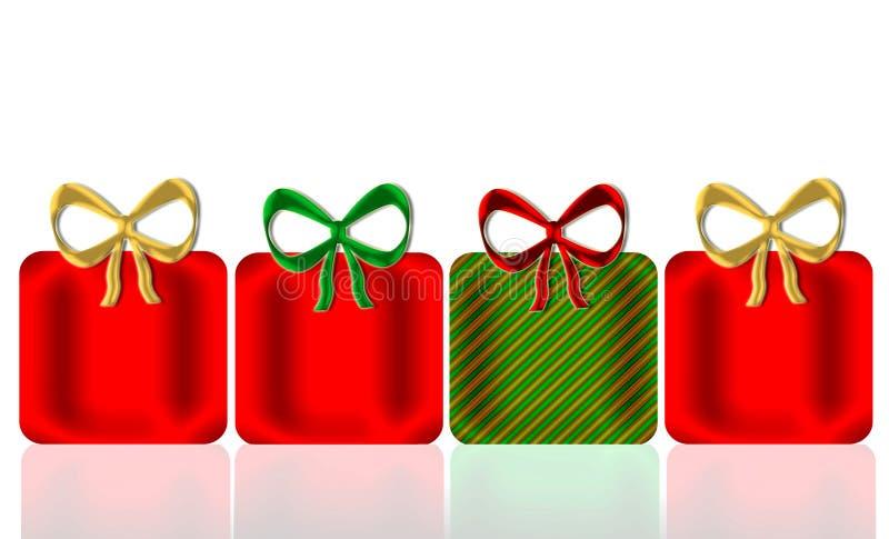 prezenty świąteczne royalty ilustracja
