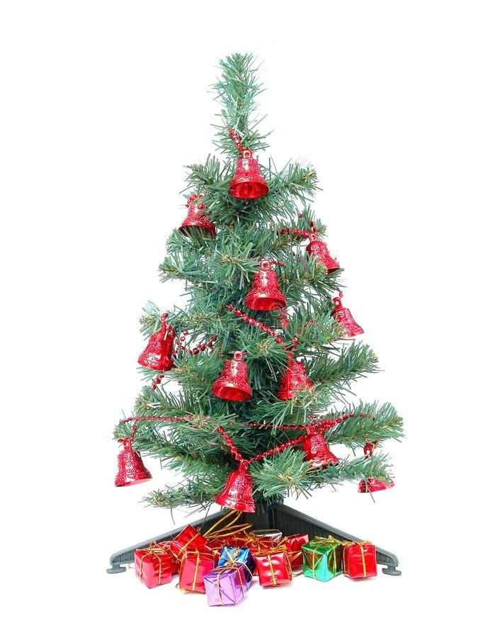prezenty świąteczne drzew zdjęcie stock