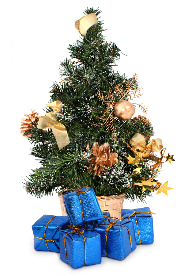 prezenty świąteczne drzew zdjęcia stock